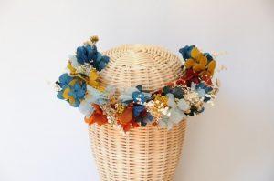Corona de flores naturales Merche