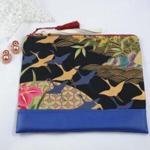 Pack azul: bolso y pendientes María.