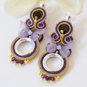 Pendientes Butterfly mostaza.
