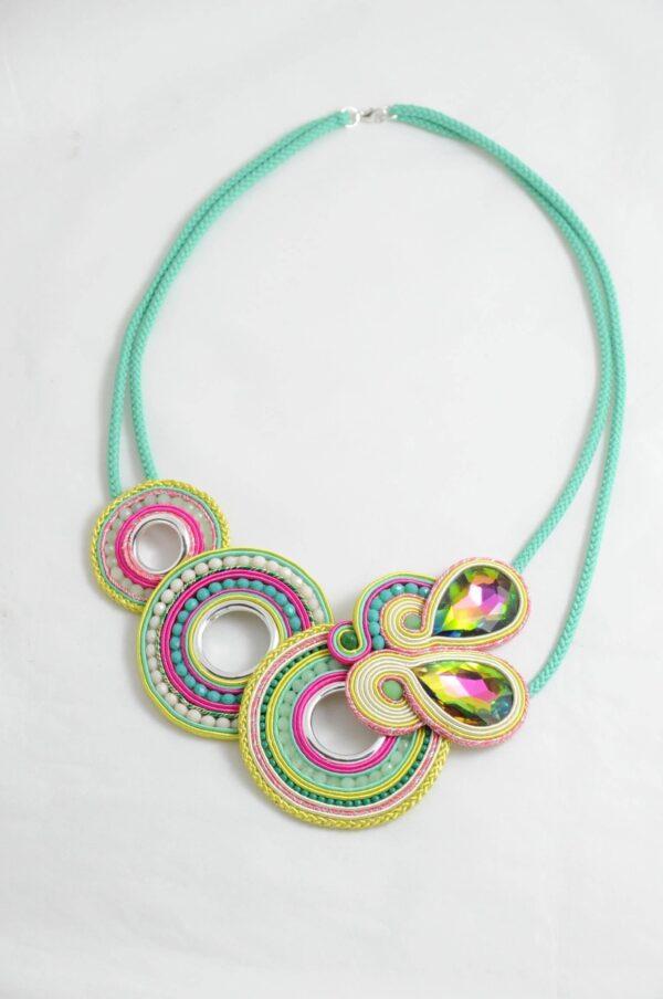 Maxi collar Candela verde.