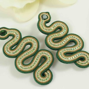 Pendientes Aimé verde esmeralda.