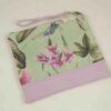 Bolso Clutch de flores mint